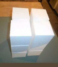 """12  pcs. Styrofoam Blocks 4"""" x 4"""" x 4"""" Square"""