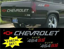 CHEVROLET 454 SS TAILGATE & BED VINYL VEHICLE DECAL STICKERS SET 1990's TRUCK
