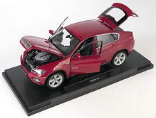 BLITZ VERSAND BMW X6 bordeaux Welly Modell Auto 1:18 NEU & OVP