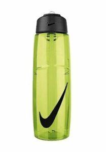 Nike T1 Flow Swoosh Sport Water Bottle With Straw - 24oz (710ml), Green/Black