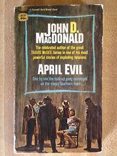 John D. MacDonald APRIL EVIL Great Cover Art Travis McGee L@@K WOW!!!