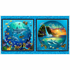 Artworks VIII Under the Sea Dolphin Fish 24x22 Pillow Panel