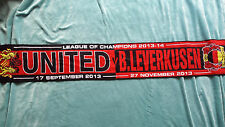 Manchester United vs Bayer Leverkusen Champions League 2013/14 Football Scarf