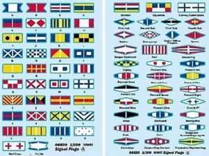 Trumpeter 06630 1/200 1/200 WWII Signal Flags Plastic Model Kit