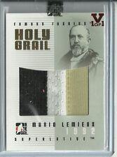 ITG Superlative Vault Mario Lemieux Holy Grail Jumbo Jersey Card 3 Color 1 of 1