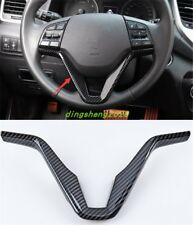 Carbon fiber Interior Steering wheel cover trim For Hyundai Tucson 2015-2018