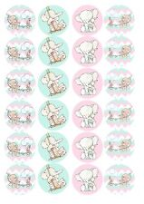 Edible Cake / Cupcake Toppers Baby Shower elephant - Highest Australian Quality