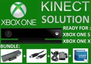 SOLUTION KINECT ONE 2.0 ADAPTER  XBOX ONE S, X & PC !!! BUNDLE READY TO WORK