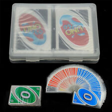 Family Party Game Transparent H2O Waterproof Plastic UNO Card the Table Game Hot