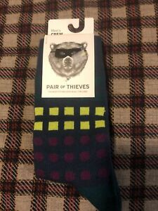 NEW | Pair of Thieves Men's Sport Crew Socks | Size 8-12 | Spruce/Lime