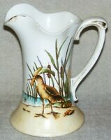 Antique Chesapeake Pottery Haynes Ware No. 422 Sand Piper Decoration Pitcher