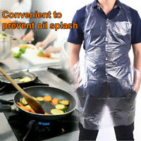 100Pcs/Pack Disposable Plastic Aprons Waterproof Oil-Proof Barbecue Cooking