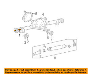 Lincoln FORD OEM 03-11 Town Car-Axle Shaft 6W1Z4234B