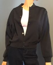 Polo Ralph Lauren Womens Satin Varsity Jacket Black Size Small Spring RL