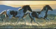 Wallpaper Border American West Western Wild Horse Horses Running