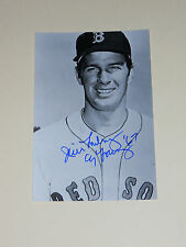 Boston Red Sox JIM LONBORG Signed 4x6 Photo MLB AUTOGRAPH 1B