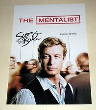 "THE MENTALIST PP SIGNED 12""X8"" POSTER SIMON BAKER"
