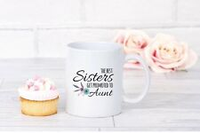 Personalised Coffee Mug Pregnancy Reveal To The Aunt To Be - Great Gift!