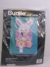 "Bucilla Plastic Canvas Kit ""Pocket of Bunnies"" Easter Napkin Holder 9"" NIP 1990"