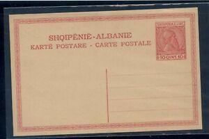 Albania  postal  card  unused   10 qint