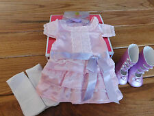 AMERICAN GIRL SAMANTHA  FRILLY FROCK-COMPLETE NEW  IN BEFOREVER BOX  RETIRED