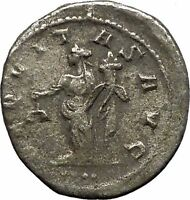 VOLUSIAN 251AD Silver Authentic Ancient Roman Coin Equality Cult  i46419