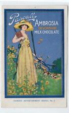PASCALL AMBROSIA DEVONSHIRE MILK CHOCOLATE: advertising postcard (C29896)