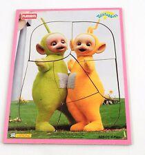 VGUC HTF 1998 Playskool Teletubbies Laa Laa & Dipsy 6 Pc Preschool Tray Puzzle 1