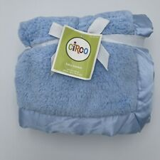 CIRCO Target Blue Baby Blanket Satin Trim Soft Plush 30x40 ~NEW