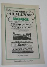 2003 Farmers' Almanac Advertising Excerpt for Norwalk Toyota California Booklet