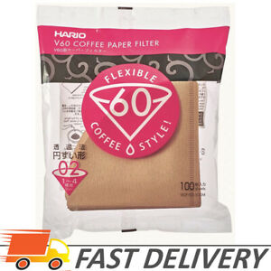 Hario V60 Paper Coffee Filters, Size 02, Natural, Tabbed 100 Count