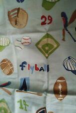 NEW Pottery Barn Kids My Favorite Sports SHAM pillowcase blue standard