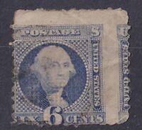 US 1869 6c Pictorial USED Sc 115 Cat $225