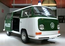 VW T2 Bay Van Bus Police Polizei 1972 Welly 1:24 LGB G Scale Diecast Model 22472