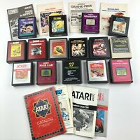 Atari 2600 Game Lot With Some Manuals Vintage 15 Games UNTESTED Collector Bundle