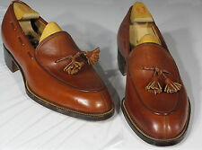 Rare Vintage Circa 30s COLE HAAN Custom Hand Made Shoes 7D, Tassel Loafers