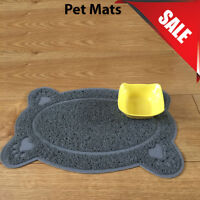 Grey Bone Style PVC Placemat Dog Puppy Pet Feeding Cat Bowl Food Mat Wipe Clean