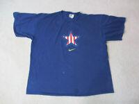 VINTAGE Nike Shirt Adult Extra Large Blue Gold USA Olympics Atlanta Games 90s *