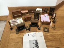 HOUSE OF MINIATURES WOOD DOLLHOUSE FURNITURE & ACCESSORIES 1/12 SCALE 17+ PIECES