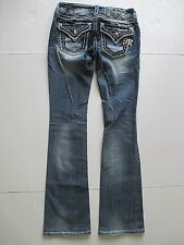 Miss Me Bootcut Jeans Size 25 Waist x 33 Long Bling Whip Stitch Boot Cut