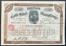 EMERSON GOLD & SILVER MINING CO. Stock 1881. Idaho Springs, Clear Creek Co., CO