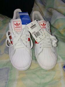 Adidas Superstar 2J Mens Size6 Red/white(RETRO)10/2008 YEAR VINTAGE 004001