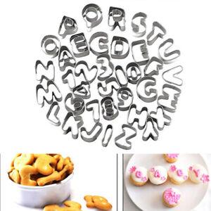 Mould Letter Number Set Cake 37pc Alphabet Fondant Cutter Icing Decorating
