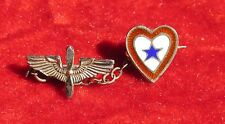 Vintage WW2 Son in the Service 1 Star  Heart pin patriotic w/ prop & wing device
