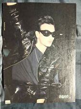 U2 / Bono & The Edge Live / 1980'S Magazine Full Page Pinup Poster Clipping