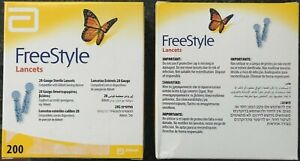 ABBOTT FREESTYLE LANCETS, 28 GAUGE, BOX of 200. BRAND NEW & SEALED TOO! MAY 2025