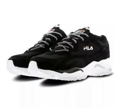 Fila Ray Tracer Trainers - Black/White/Red - Size UK 7.5 EU 41.5 RRP £85