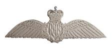 Royal Air Force Raf Pilot Flügel Modisch Nickel Anstecker/Brevet