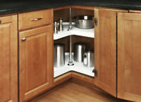Kidney/Round Tray Corner Kitchen Cabinet Lazy Susan Daisy Rotating Shelf