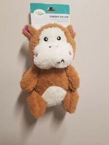 Zippy Paws Cheeky Chumz Monkey Squeaky Plush Puppy Dog Toy